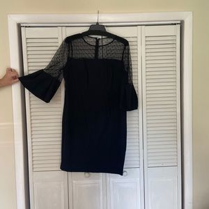 Eliza J black cocktail dress